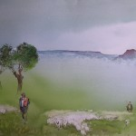 Three Shepherds, watercolor
