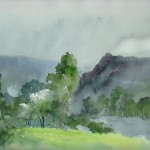 8.Jajouei, Hossein,spring,15 x22 inches ,watercolor,Sold