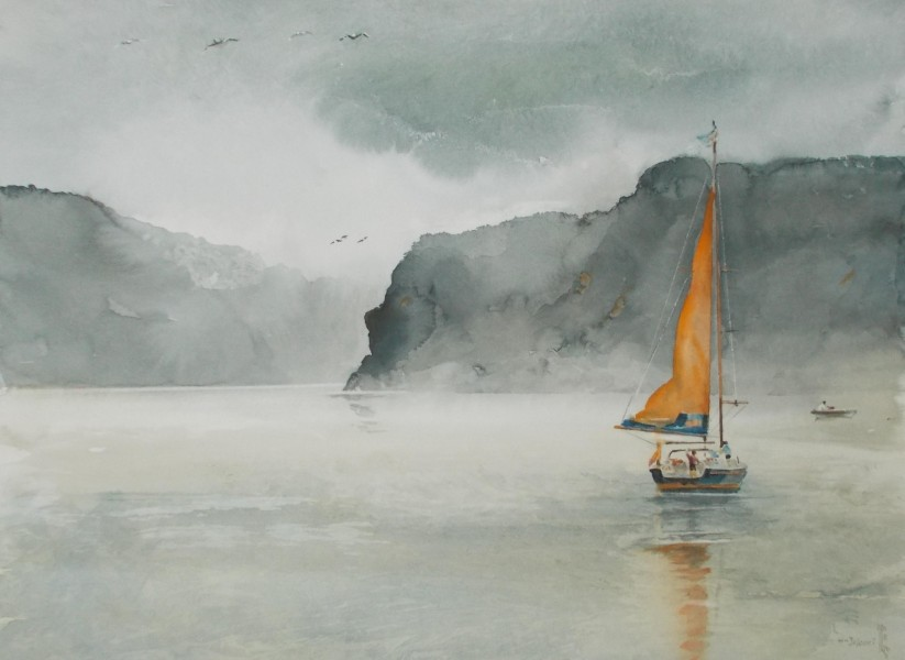 Jajouei Hossein, 18 x 24 ,watercolor