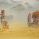 Jajouei Hossein ,Fall season, 18 x 24 inches ,Watercolor