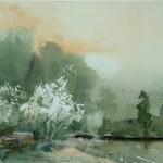 Jajouei ,Hossein ,Vernal, 10 x14 inches,watercolor ,Sold