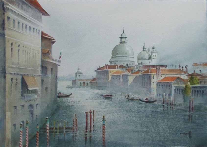Jajouei Hossein , italy, 14 x 18 inches water color'
