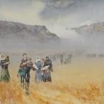 Jajouei ,Hossein,Wanderer,22 x 30 in inches,Watercolor,Paper,$1200