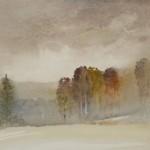 Jajouei, clody fall, 11 x 14 inches watercolor.
